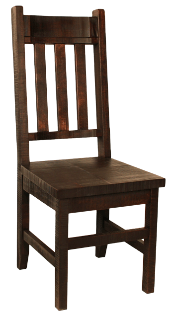 R750 Rustic Slat-Back Chair