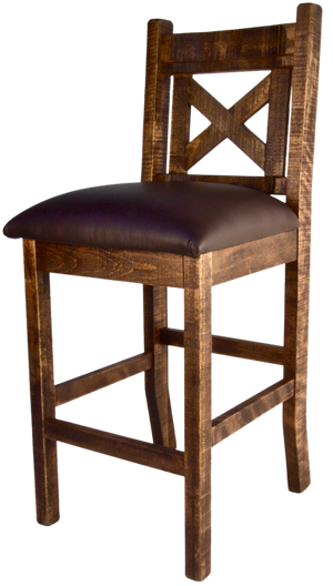 "R857 X-Back Stool 30"" - Old Hippy Wood Products 2415-80 Ave, Edmonton, AB"