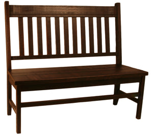 R760 Rustic Slat-Back Bench