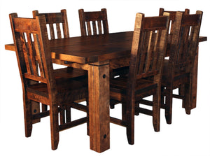 Rustic 449P with Slat Back Chairs - Old Hippy Wood Products 2415-80 Ave, Edmonton, AB