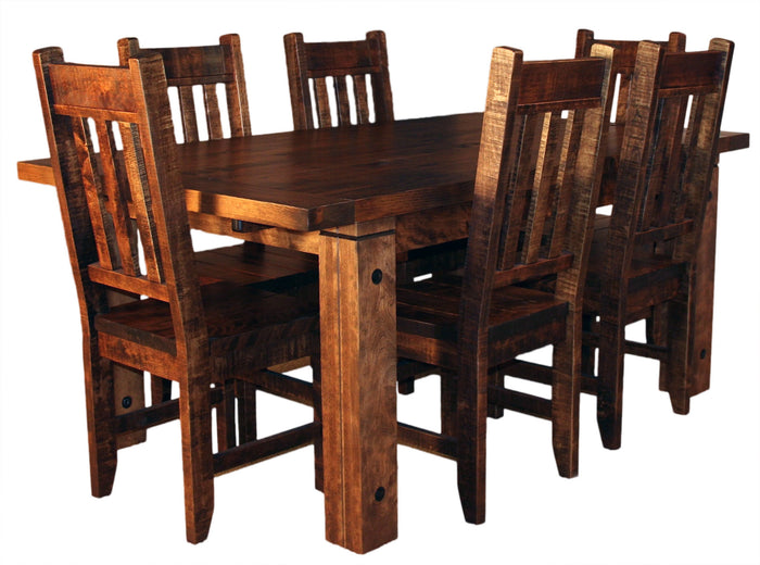 Rustic 449P with Slat Back Chairs