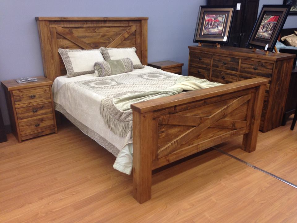 Rustic Barn Door Bed Old Hippy Wood Products 2415 80 Ave Edmonton Ab