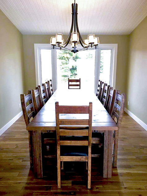 Build Your Own Rustic 460 Table Set & Add Up To 14 R752 Chairs