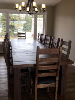 Build Your Own Rustic 460 Table Set & Add Up To 14 R752 Chairs - Old Hippy Wood Products 2415-80 Ave, Edmonton, AB
