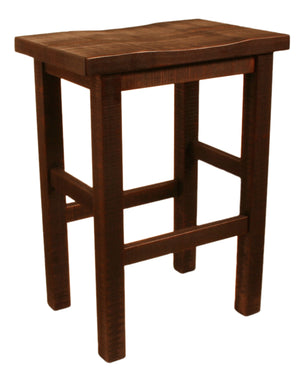 "R823 Rustic Saddled Stool 24"" - Old Hippy Wood Products 2415-80 Ave, Edmonton, AB"