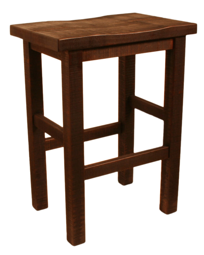 R823 Rustic Saddled Stool 24""