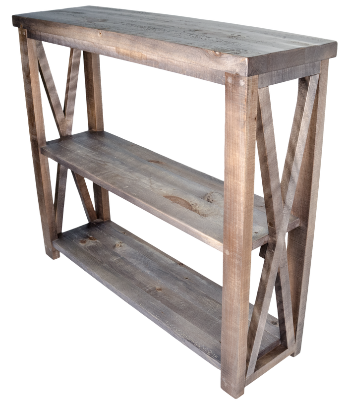 #R3068 - X sofa table with two shelves