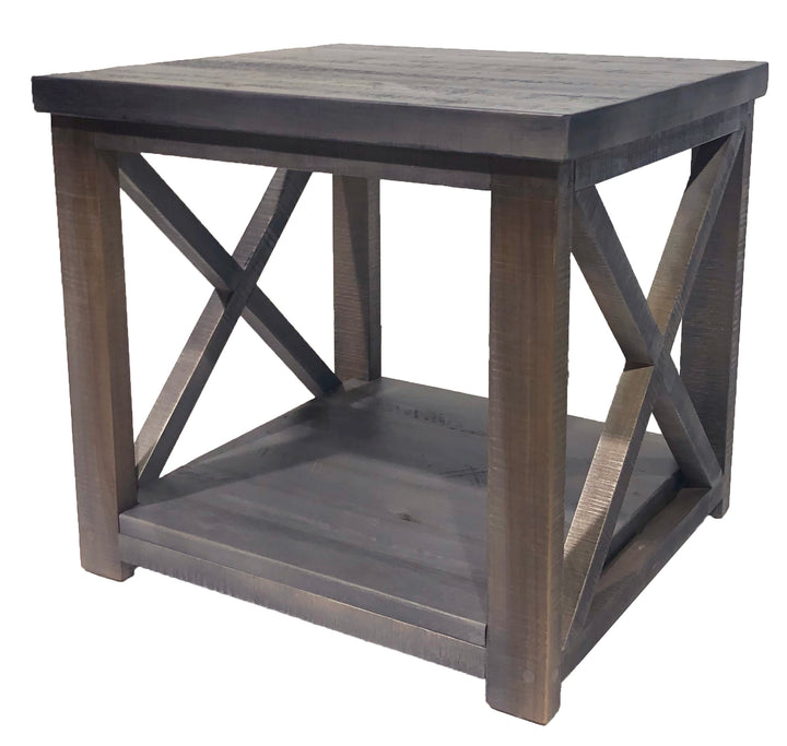 #R3060 - X end table with one shelf - Old Hippy Wood Products 2415-80 Ave, Edmonton, AB