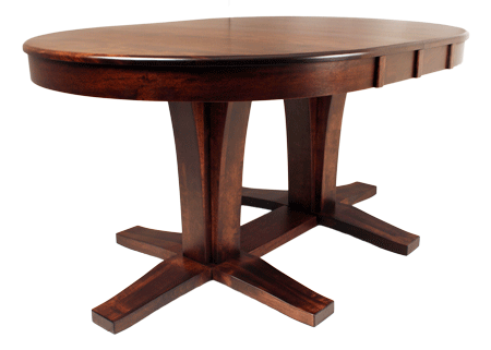 533 Double Bistro Pedestal Oval Table 42