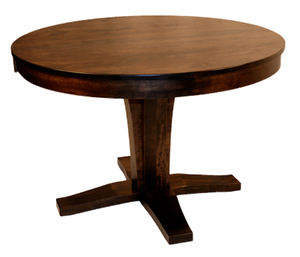 "508 Single Bistro Pedestal Round Table 42"" plus 2x12"" leaves - Old Hippy Wood Products 2415-80 Ave, Edmonton, AB"