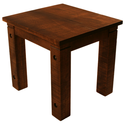 021 Rustic End Table with Bolted Rustic Legs