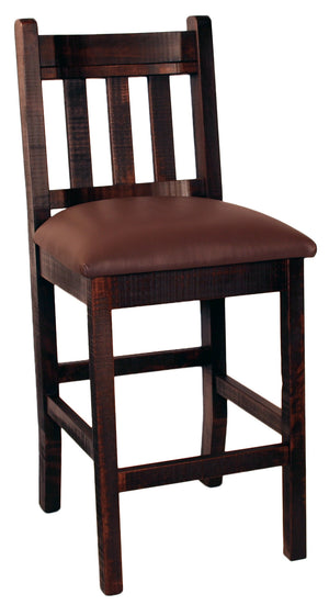 "R824 Slat-Back Stool 24"" - Old Hippy Wood Products 2415-80 Ave, Edmonton, AB"