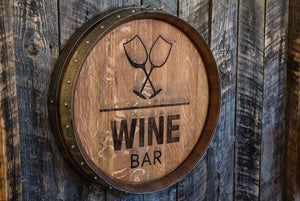 Wine Barrel Head Engraving - Wine Bar - Old Hippy Wood Products 2415-80 Ave, Edmonton, AB