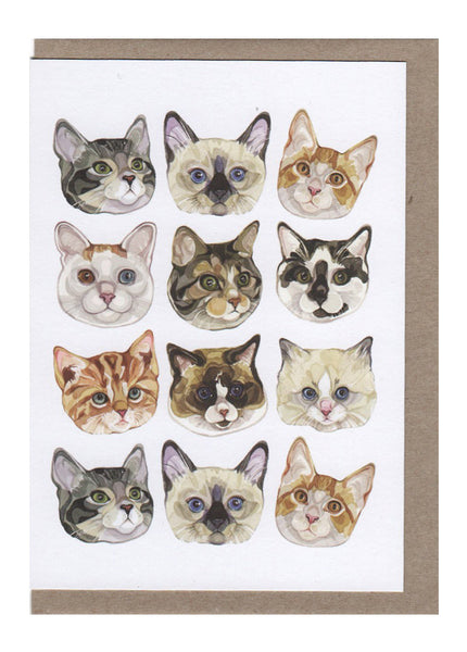 Cat Faces Card