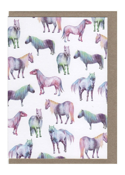 Horses of a Different Color Card