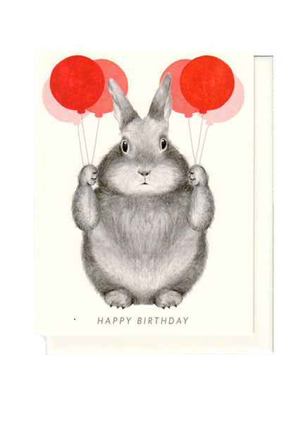 BUNNY With Balloons CARD