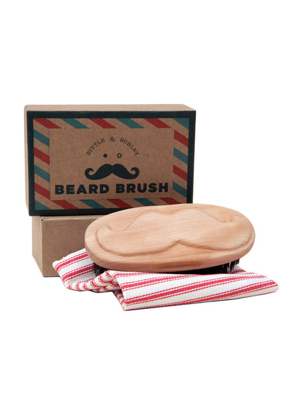 CARVED BEARD BRUSH