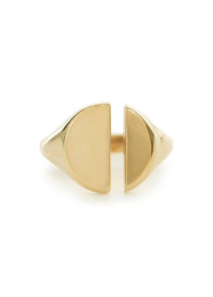 Split Signet Ring
