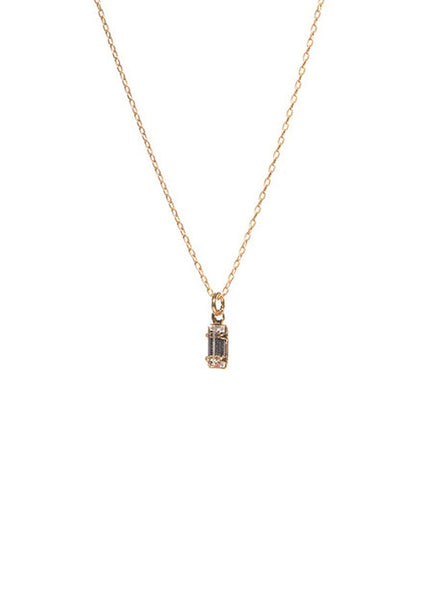 Tiny Baguette Necklace