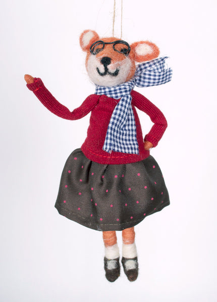 Little Ms. Fox Ornament