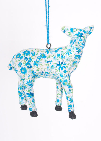 Calico Deer Ornament