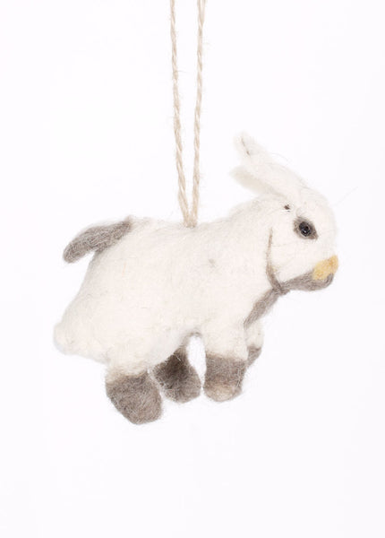 Felted Rabbit Ornament