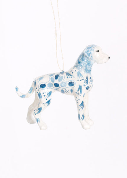 Folk Dog Ornament