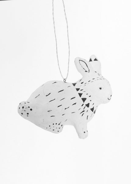 Tribal Rabbit Ornament