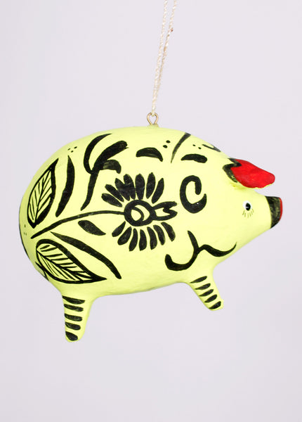 Floral Hacienda Pig Ornament