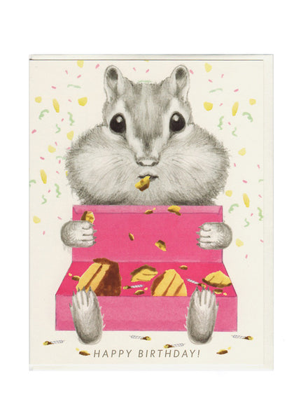 Chipmunk Cake Card