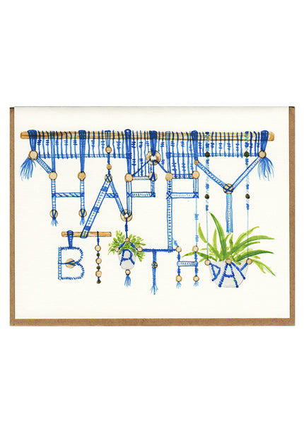 Happy Birthday Macrame Card