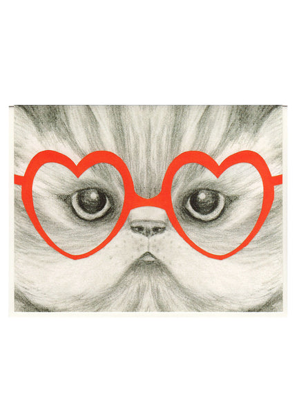 Kitten Glasses Card