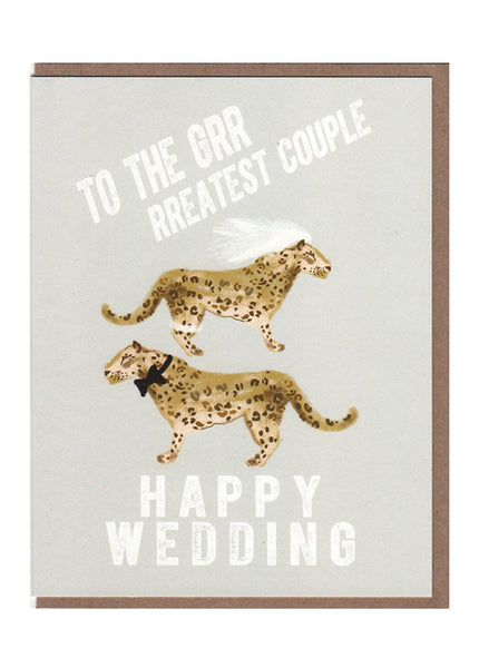 Leopard Print Wedding Card