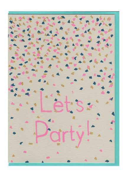 Let's Party Confetti Card