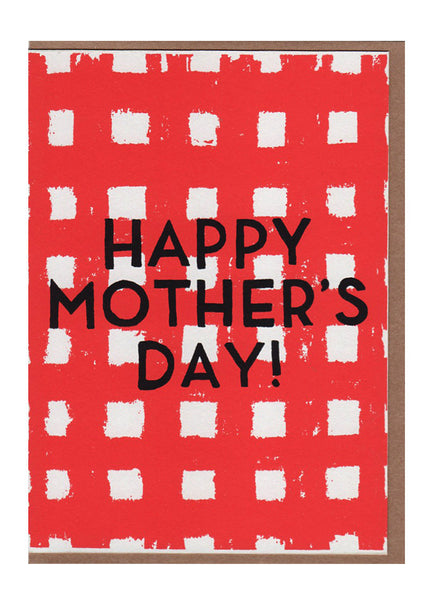 Mother's Day Gingham Card