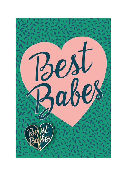 Best Babes Pin Postcard