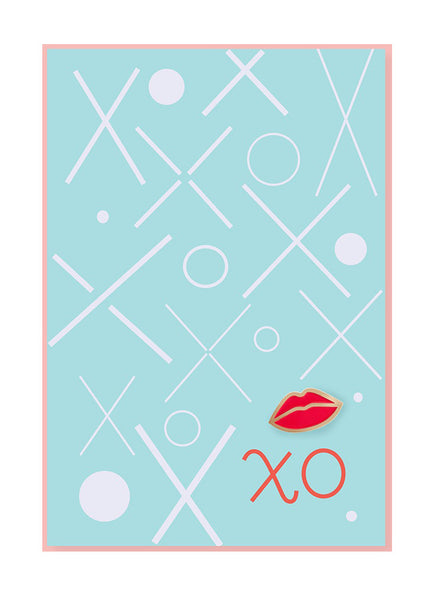 Lips Pin Postcard