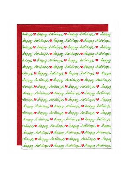 Holiday Hearts Card