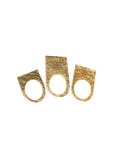 GOLD HAMMER RING SET