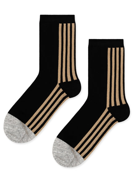 Back Stripe Crew Socks