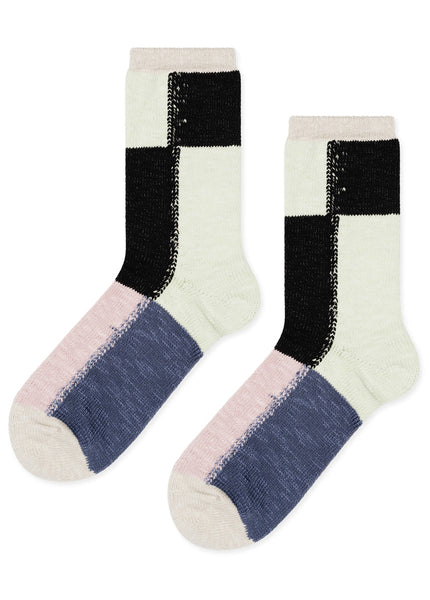 Vintage Block Crew Socks