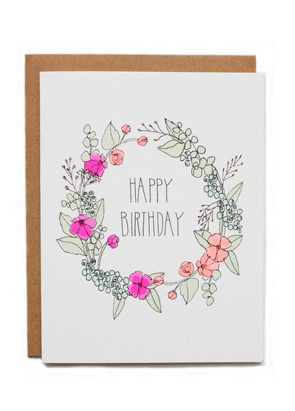 Birthday Wreath Card