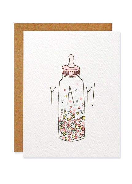 Yay Confetti Bottle Card