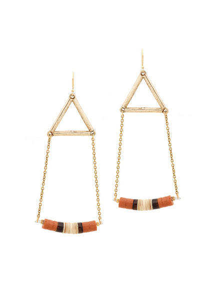 HEISHI BEADED EARRINGS