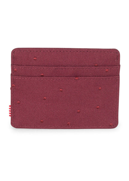 Charlie Embroidered Dot Wallet