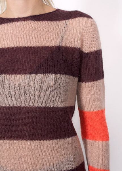 Mohair Striped Sweater