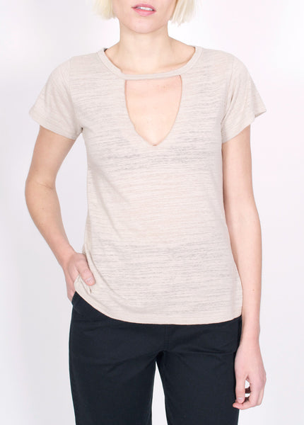 Cut Out V Tee