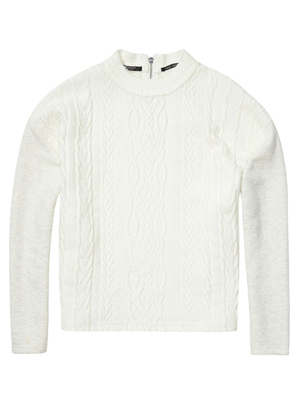 Embossed Cable Sweatshirt
