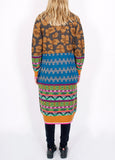 Mixed Pattern Long Cardigan