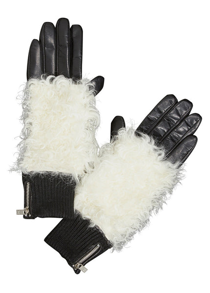 Shearling Leather Gloves